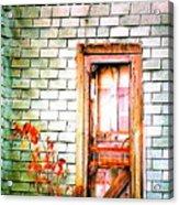 Abandonded Farm Door Acrylic Print