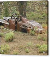 Abandoned Antique Car Acrylic Print