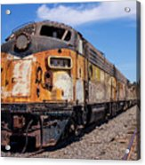 Abandoned Bessemer And Lake Erie Trains Schellville California Acrylic Print
