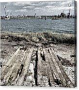 Abandoned Boat Slip Acrylic Print