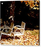 Abandoned Chairs Acrylic Print