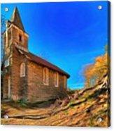 Abandoned Church Of Abandoned Village Paint - Chiesa Abbandonata Di Paesino Abbandonata Paint Acrylic Print