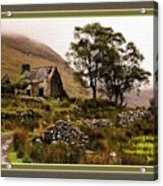 Abandoned Cottage - Scotland H A With Decorative Ornate Printed Frame Acrylic Print