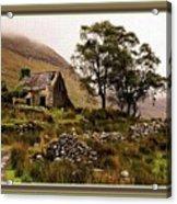Abandoned Cottage - Scotland H B With Decorative Ornate Printed Frame Acrylic Print