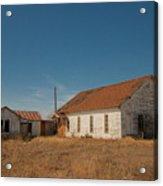 abandoned farm house dance hall #VanishingTexas Acrylic Print