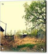 Abandoned Farm Yard Acrylic Print