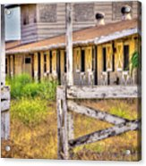 Abandoned Horse Stables Acrylic Print by Connie Cooper-Edwards