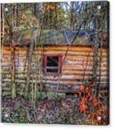 Abandoned Log Cabin Acrylic Print