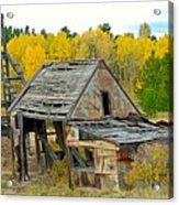 Abandoned Mine In Autumn Acrylic Print