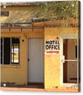 Abandoned Motel Office Acrylic Print
