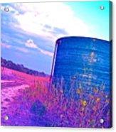 Abandoned Oil Storage Tank Acrylic Print