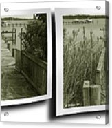 Abandoned Pier - Gently Cross Your Eyes And Focus On The Middle Image Acrylic Print