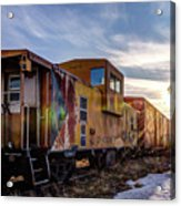 Abandoned Railcar Acrylic Print