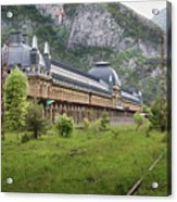 Abandoned Side Of The Canfranc International Railway Station Acrylic Print