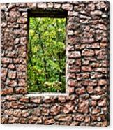 Abandoned Stone Wall With Window Acrylic Print