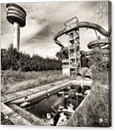 abandoned swimming pool - Urban decay Acrylic Print