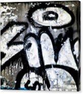 Abandoned Train Car Graffiti Ir Acrylic Print