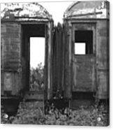 Abandoned Train Cars B Acrylic Print