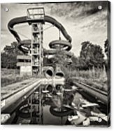 Lets Have A Splash - Abandoned Water Park Acrylic Print