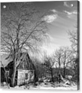 Abandoned Wooden Shack In Winter Acrylic Print