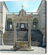 Abbey Of Montecassino Courtyard Acrylic Print