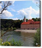 Abbey Weltenburg And Danube River Acrylic Print