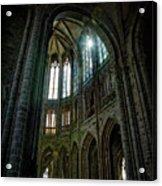 Abbey With Heavenly Light Acrylic Print