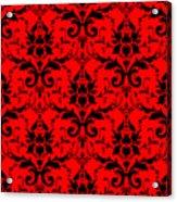 Abby Damask In Black Pattern 02-p0113 Acrylic Print