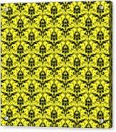 Abby Damask In Black Pattern 05-p0113 Acrylic Print