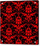 Abby Damask With A Black Background 02-p0113 Acrylic Print