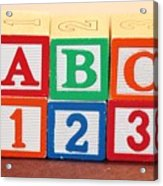 Abc 123 Acrylic Print