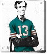 Abe Lincoln In A Dan Marino Miami Dolphins Jersey Acrylic Print