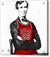 Abe Lincoln In A Michael Jordan Chicago Bulls Jersey Acrylic Print