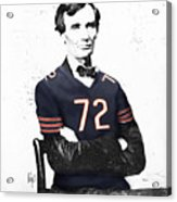 Abe Lincoln In A William Perry Chicago Bears Jersey Acrylic Print