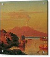 Abendlicher Blick Ber Den Golf Von Neapel Acrylic Print