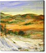 Aberdeen Winter Landscape Acrylic Print