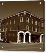 Abilene Kansas - Spruce And 3rd Sepia Acrylic Print