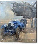 Able Mable And The Blue Lagonda  Acrylic Print