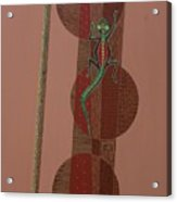 Aboriginal Lizard Acrylic Print