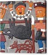 Aboriginal Painted Wall Decoration Acrylic Print