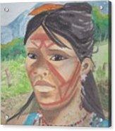 Mujer Indigena Acrylic Print