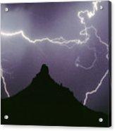 Above And Beyond Pinnacle Peak Acrylic Print