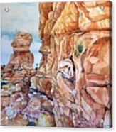 Above Canyonlands Campground Acrylic Print