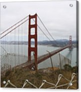 Above The Golden Gate Acrylic Print