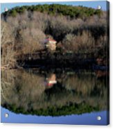 Above The Waterfall Reflection Acrylic Print