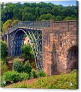Abraham Derbys Iron Bridge Rural Landscape Acrylic Print