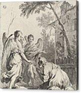 Abraham Kneeling Before The Three Angels Acrylic Print