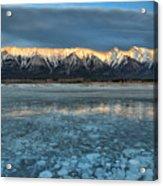 Abraham Lake Ice Bubble Sunset Acrylic Print