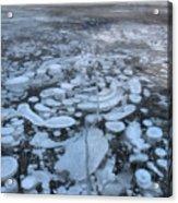 Abraham Lake Ice Bubbles Acrylic Print