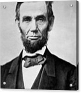 Abraham Lincoln -  Portrait Acrylic Print by International  Images